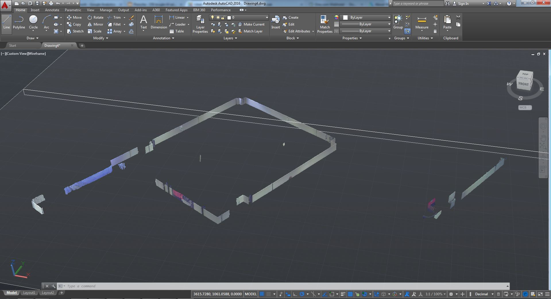 3D scanning in AutoCAD