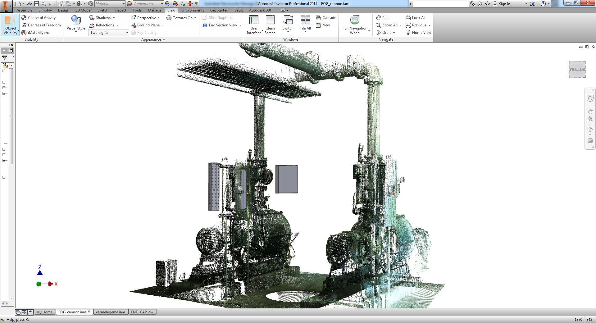 3D scanning Inventor