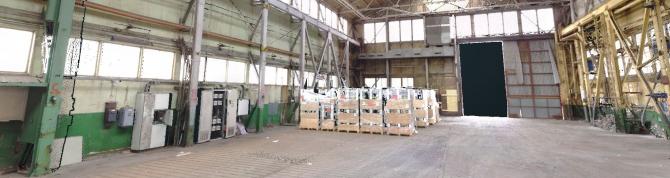 Laserscanning af fabriksbygning