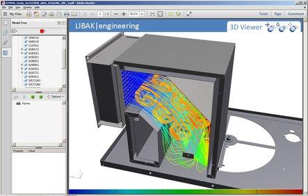 Simulering af luftgennemstrømning i varmekasse