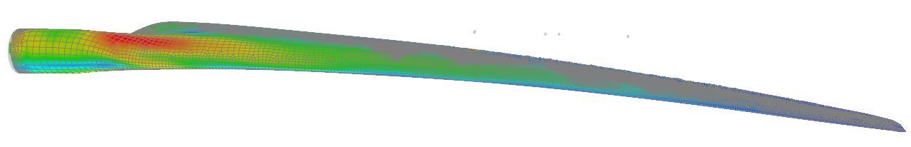 FEM analyse af vindmøllevinge