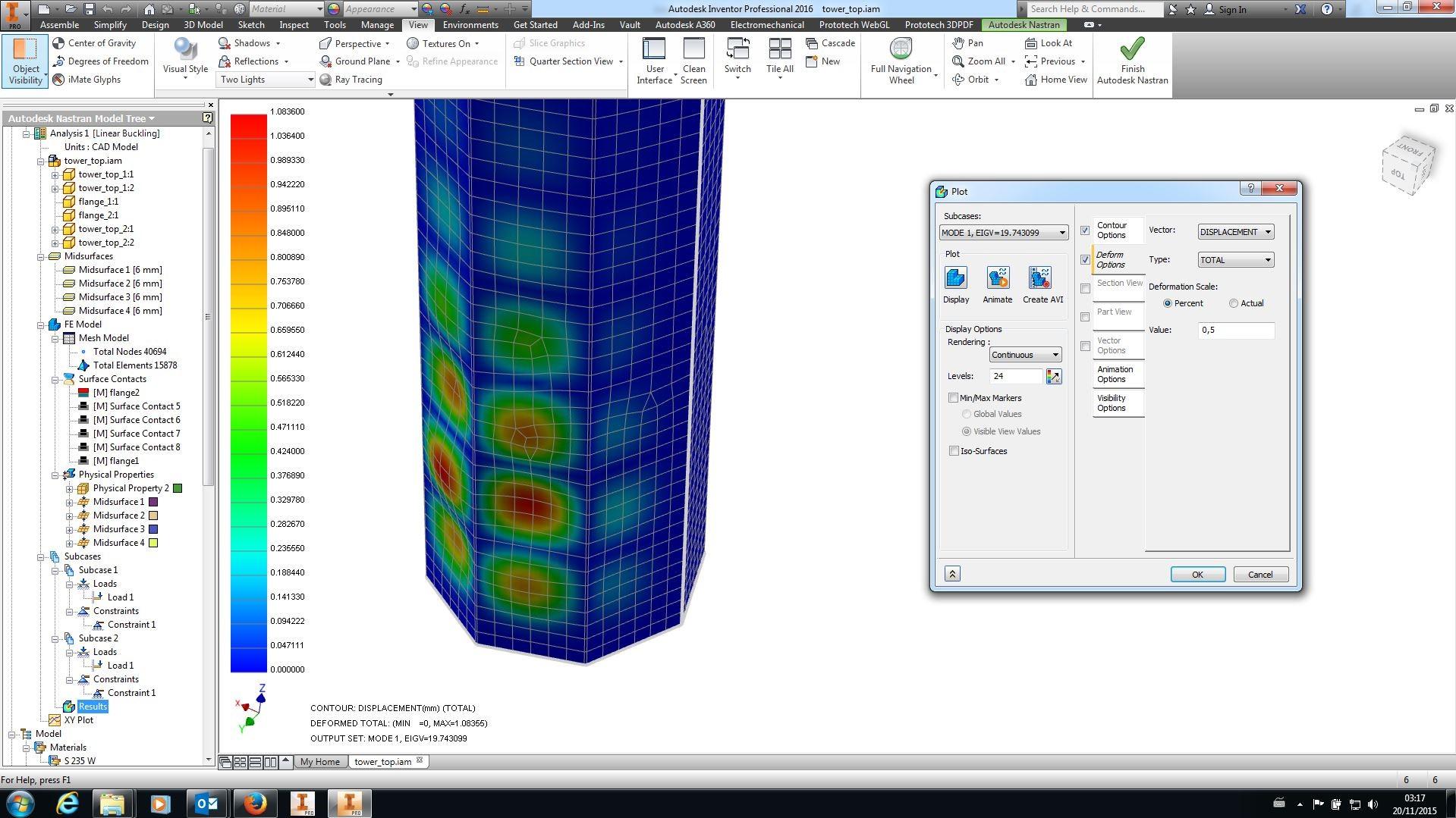 FEM analyse af vindmølletårn